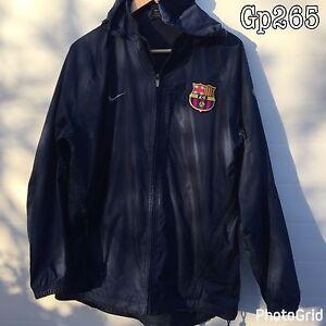 Embutido núcleo derrota  FCB Barcelona Nike Fútbol Cazadora Con Capucha Chándal Azul Oscuro | eBay
