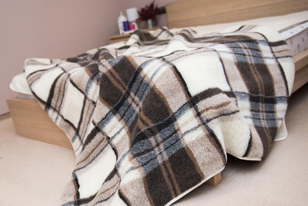 Pure Wool Blanket Throw 100% NATURAL Single Double König Größe Bett  lightweight