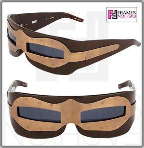 e6dd62031a LINDA FARROW KTZ SUIT OF ARMOUR Brown Bronze Wrap Sunglasses KTZ 2 2 ...