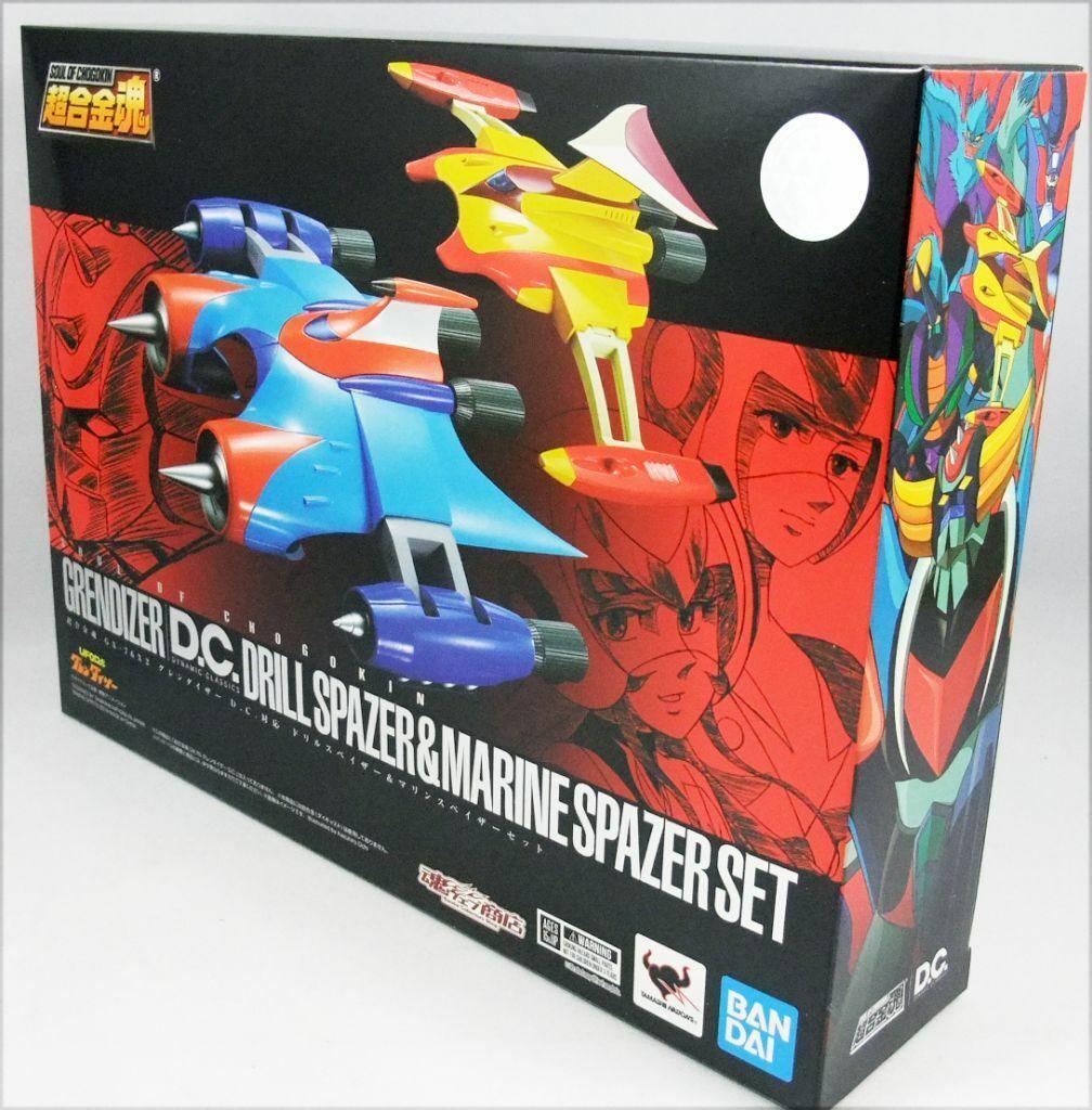 GX-76X2 goldrake Grendizer D.C. Drill Spazer & Marine Spazer Set Bandai Tamashii