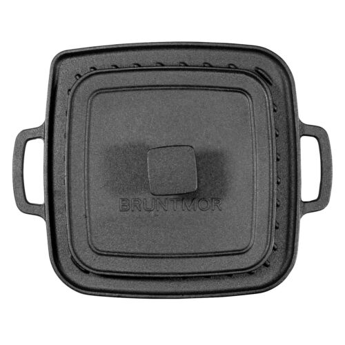 Pre-Seasoned Cast Iron Single Burner Reversible Griddle with Grill Press 10 X 10