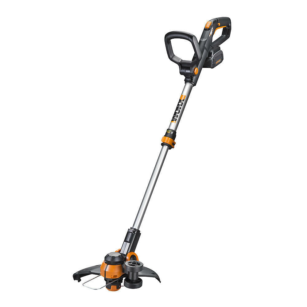 worx wg180 40v powershare 12 u0026quot  cordless string trimmer    edger wtih command feed 845534013139