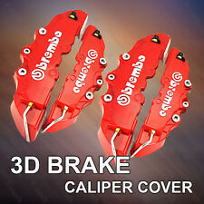 4 X Red 3D Brembo Disc Brake Caliper Covers Front and Rear Universal Racing Red