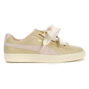 PUMA Women's Basket Heart Coachella FM Semolina Shoes 36636601 NEW