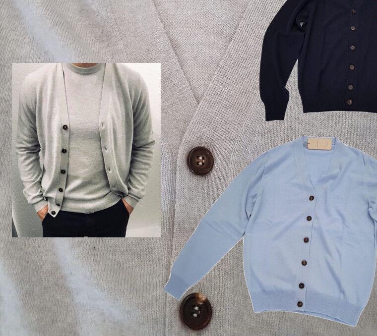 Cardigan Uomo V Puro Cashmere Finezza 12 Filati Loro Piana Uomo Sweater UCASH04