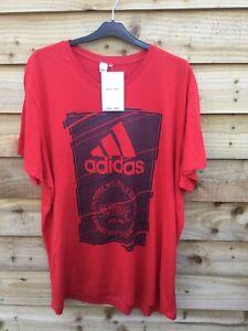 Adidas Size XXL Red Short Sleeve T Shirt