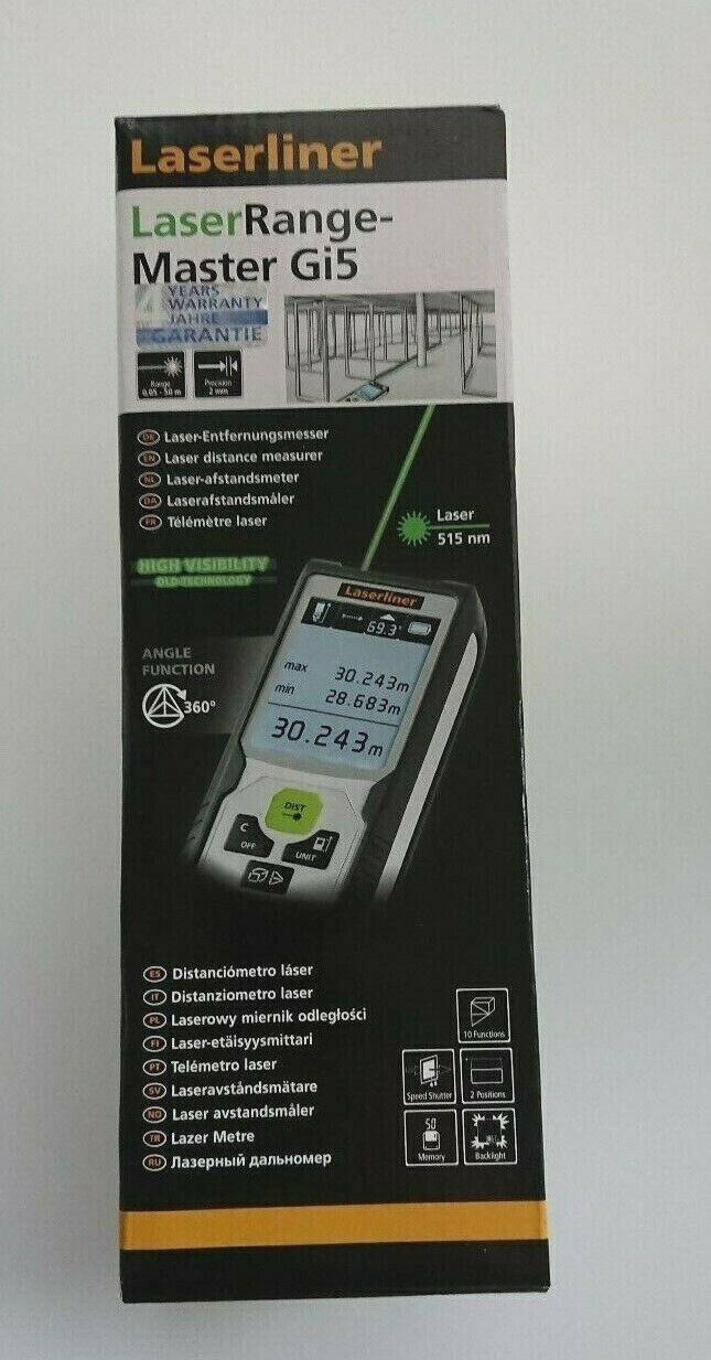 Laserentfernungsmesser LaserRange-Master Gi5 mit grüner Lasertechnologie 080838A