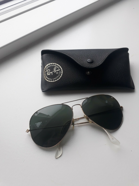 Solbriller unisex, RAY BAN, Aviator metal stel, large RB…