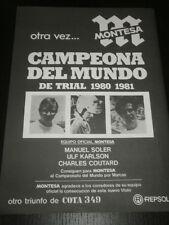 MONTESA TRIAL - MOTORCYCLE MOTO - AD PUBLICITE ANUNCIO - SPANISH - 1946