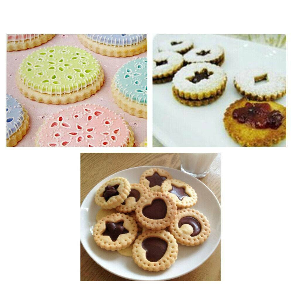 New 6 Pack CRINKLE EDGE COOKIE CUTTERS Baking Pastry Biscuit Scone Round Edge
