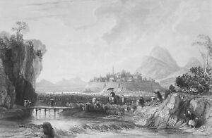 CHINA-Cotton-Plantations-at-Ning-po-1840-Antique-Print-Engraving-T-Allom