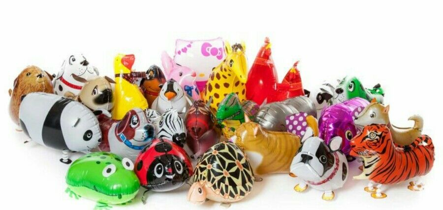 Walking pet animal balloons x 500 wholesale joblot party fairground xmas