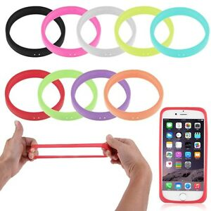 Fluorescent-Soft-Silicone-Bracelet-Bumper-Case-For-Universal-Mobile-CellPhone