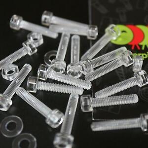 50x-Testa-a-bussola-in-policarbonato-testa-esagonale-viti-macchina-M4-x-20mm