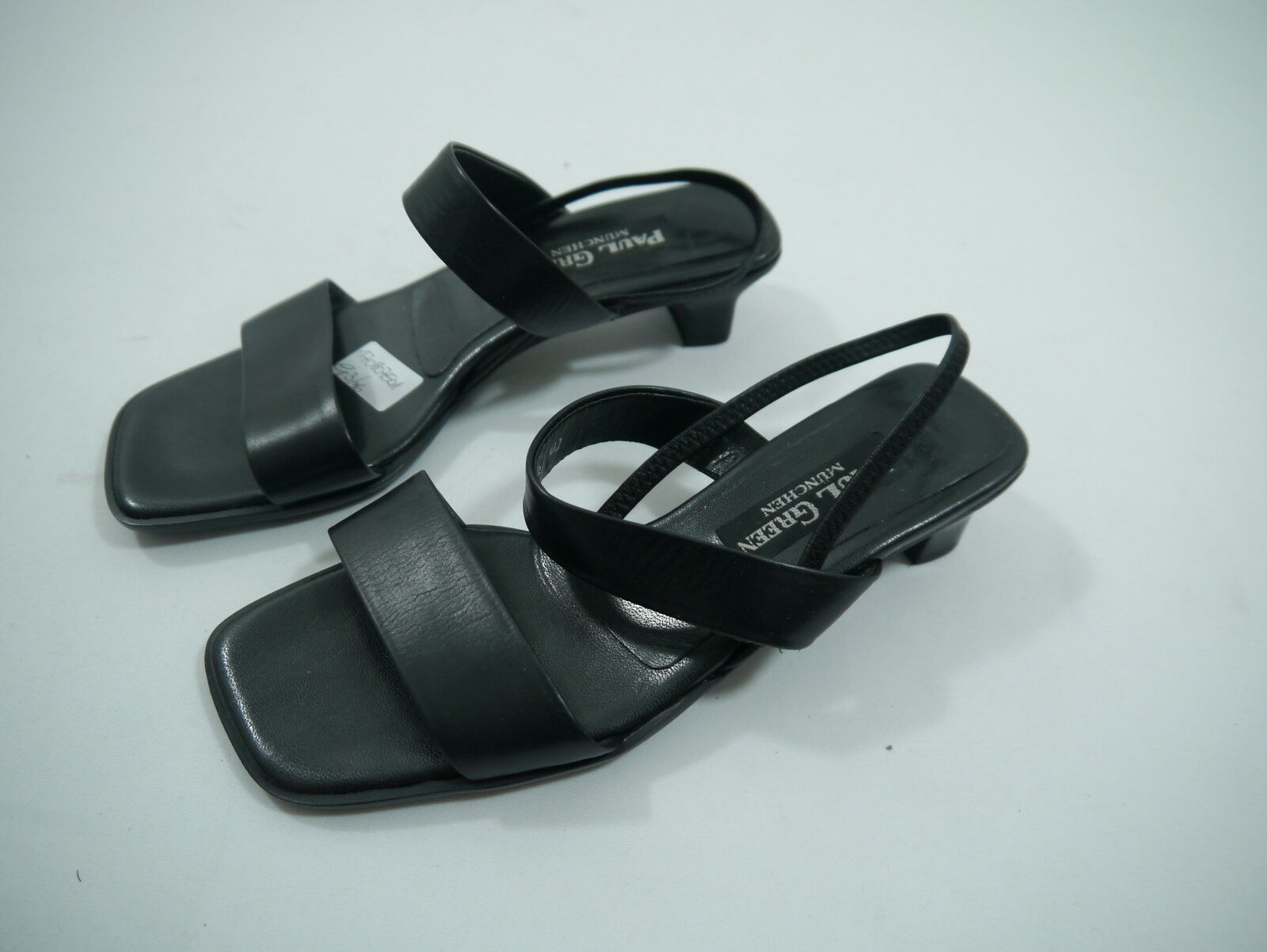 # PAUL GREEN Da. Sandalee Sandaleette schwarz Leder Gr.3/36  wie neu