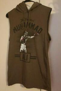Muhammad-Ali-The-Greatest-Sleeveless-Tank-Hoodie-Sweatshirt-Boxing-Small-Brown