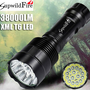 SupwildFire-38000LM-XM-L-T6-LED-Flashlight-Torch-Light-Super-Bright-18650-26650