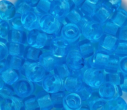 20g Preciosa Glas Rocailles  8,5 mm Blau transparent