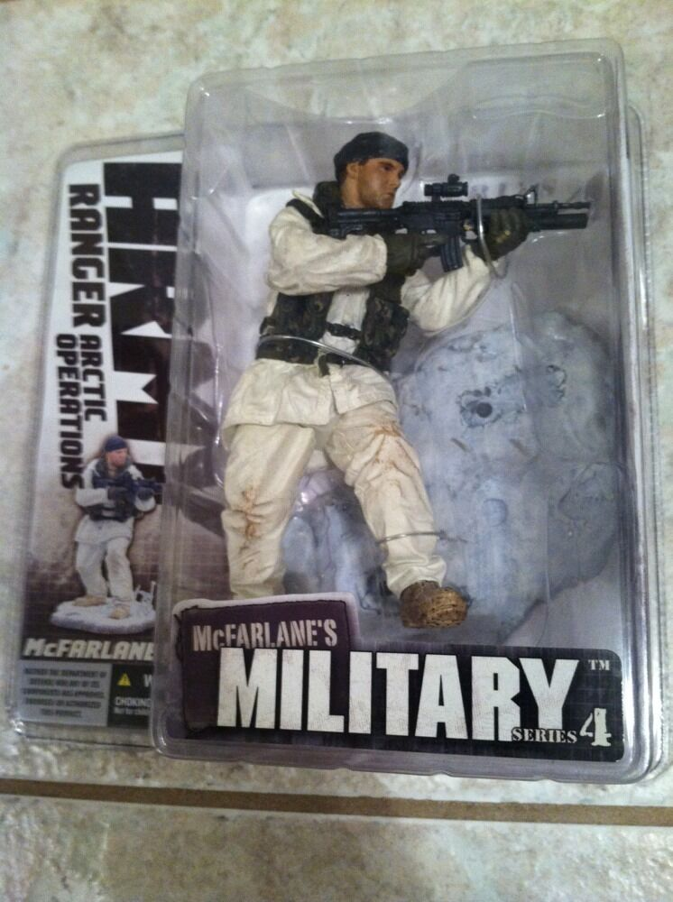 McFarlane Military (Series 4)-  Army Ranger Arctic Operations  (MIP) 2006