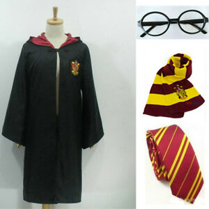 Adult-amp-Children-Harry-Potter-Hogwarts-Tie-Glasses-Cape-Cloak-Robe-Cosplay-COS-AB