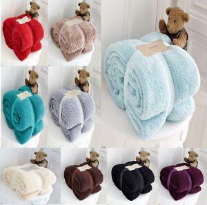 Teddy Bear Luxurious Throws Super Soft Warm Cosy Sofa And Bed Fleece Blankets Gc Home & Garden