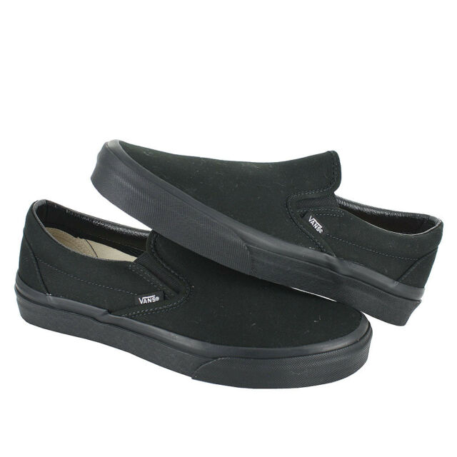 34a9cdc06d VANS Classic Slip on Mens Size 10.5 Black Canvas Skate Shoes 1590 ...