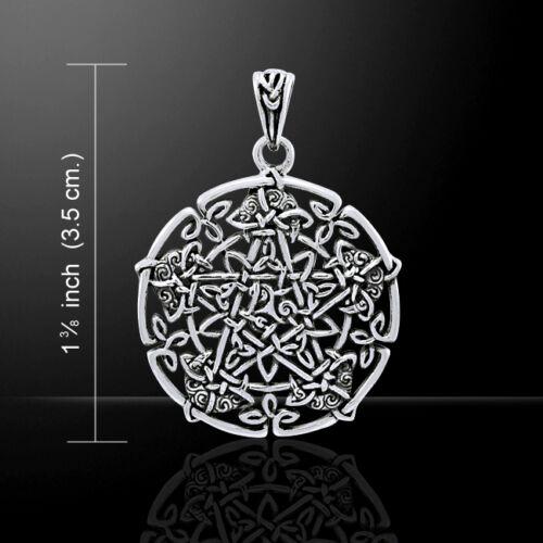 Brigid Ashwood Moon Pentacle Sterling Silver Pendant by Peter Stone Fine Jewelry
