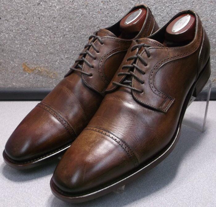 242603 PFi60 para hombres zapatos M de cuero marrón Hecha en Italia Johnston Murphy