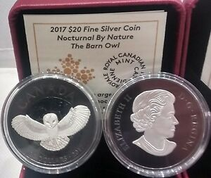 2017-Barn-Owl-20-1OZ-Pure-Silver-Coin-Nocturnal-Night-Sky-Moon-Black-Rhodium