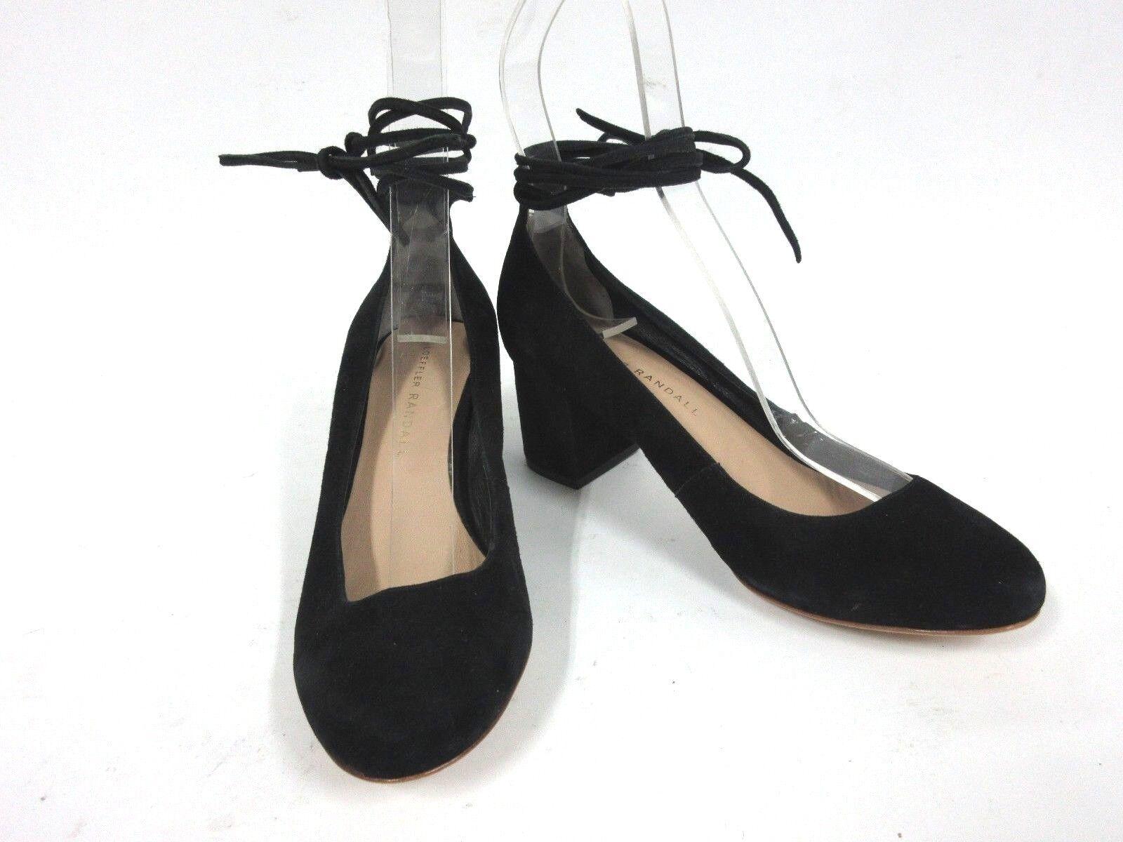 nuovo di marca New New New LOEFFLER RANDALL Clara Suede Ankle-Tie Pumps nero Dimensione  6 B  miglior servizio