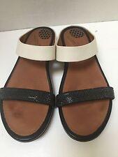 FitFlop Banda Sandal Black Cream Size 7 US 38 EU MSRP $140