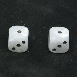 1-Pair-of-White-Pearl-Dice-Dust-Caps-Snake-Eyes-BMX-Retro-Valve-Caps