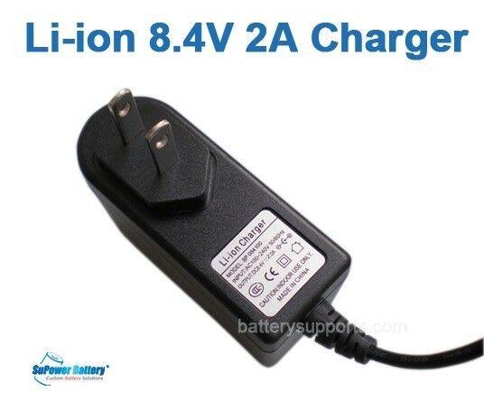 Lithium Ion Battery Charger Li-ion Li-Po 2S 8.4V 7.2V 7.4V 2A Wall Socket AC DC