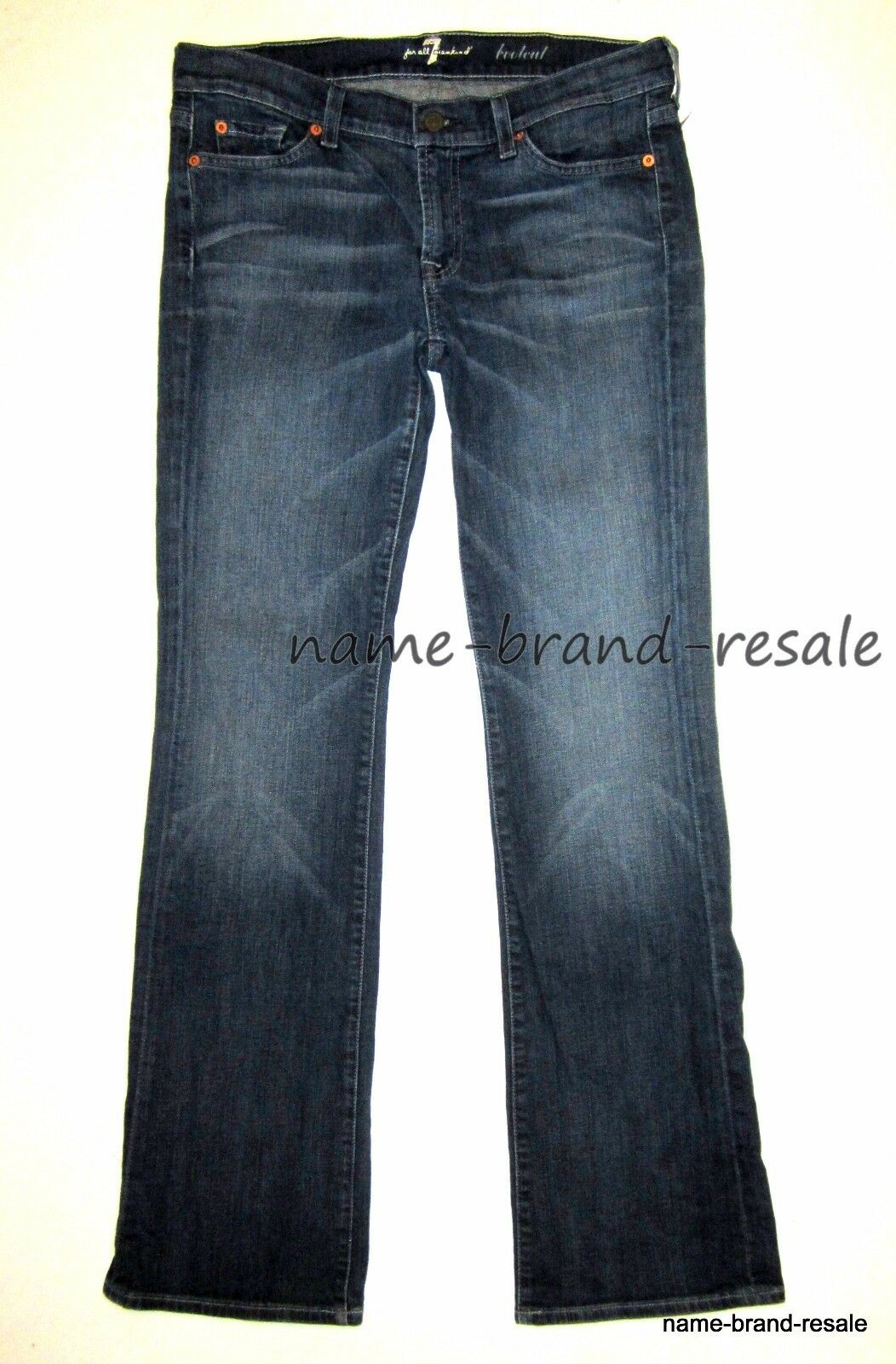 7 FOR ALL MANKIND Womens 30 x 33 Jeans BOOTCUT Designer Denim Boot Cut