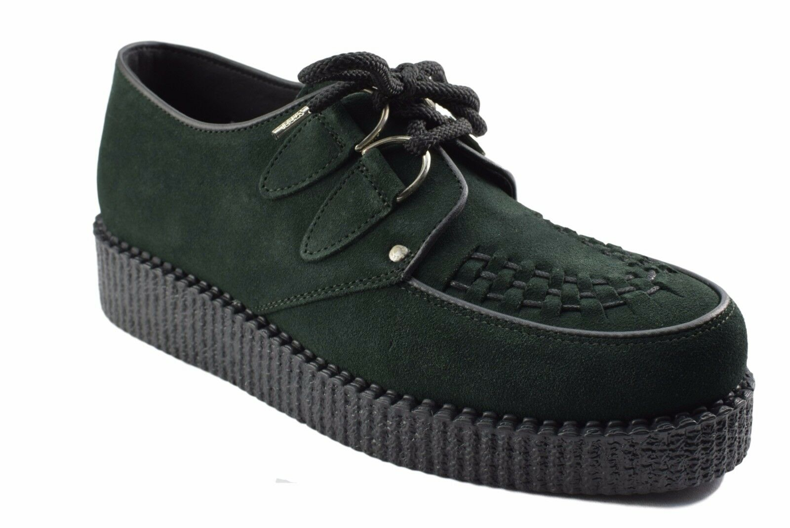Steel Ground Schuhes Dark Green Suede Creepers Low Sole D Ring Casual Sc400Z7