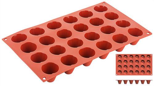 Backform langlebig /& rein // 24 oder 8 Formen Backmatte Kegel aus Silikon
