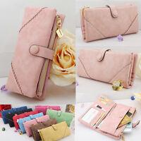 Womens Fashion Synthetic Leather Wallet Button Clutch Purse Lady Long Handbag XN