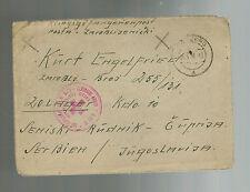 1946 Edelsberg Germany to Yugoslavia Prisoner of War Camp POW Cover Red Cross