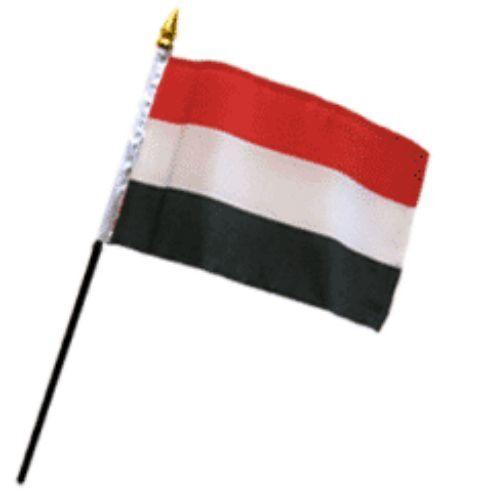 "Wholesale Lot of 12 Yemen 4/""x6/"" Desk Table Stick Flag"