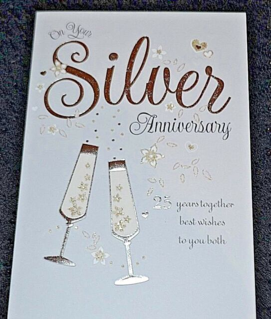 on your silver 25th anniversary greeting card lovely greetings cards