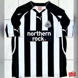 Authentic-Puma-Newcastle-United-2010-11-Home-Jersey-Size-L-Fair-Condition