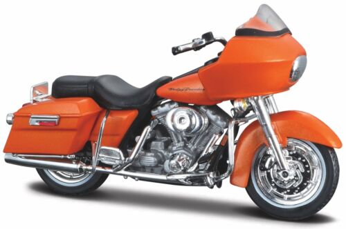 Moto Modèle 1:18 HARLEY DAVIDSON FLTR Road Glide 2002 ORANGE de Maisto