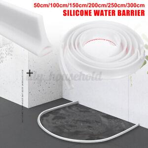 50-300cm Silikon Dusche Wasserstopper Stopp Streifen Boden Abdichtun Badezimmer