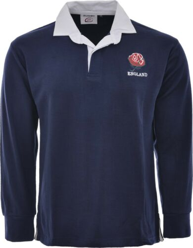 ENGLAND ENGLISH BABY KIDS CHILDS RUGBY SHIRT FULL SLEEVE ALL SIZES EMBROIDED NEW