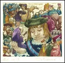 David Bekker 2000 Exlibris C4 Fairy Tales Gargantua Rabelais Erotic Woman 751