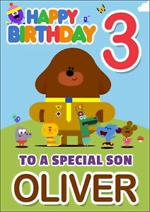 Pleasant Hey Duggee Personalised Birthday Card Any Name Age Funny Birthday Cards Online Sheoxdamsfinfo