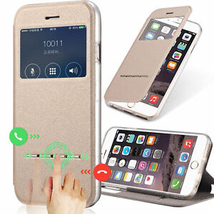 Luxury-Leather-Sensor-Case-Front-View-Window-Flip-Stand-Cover-For-iPhone-Samsung