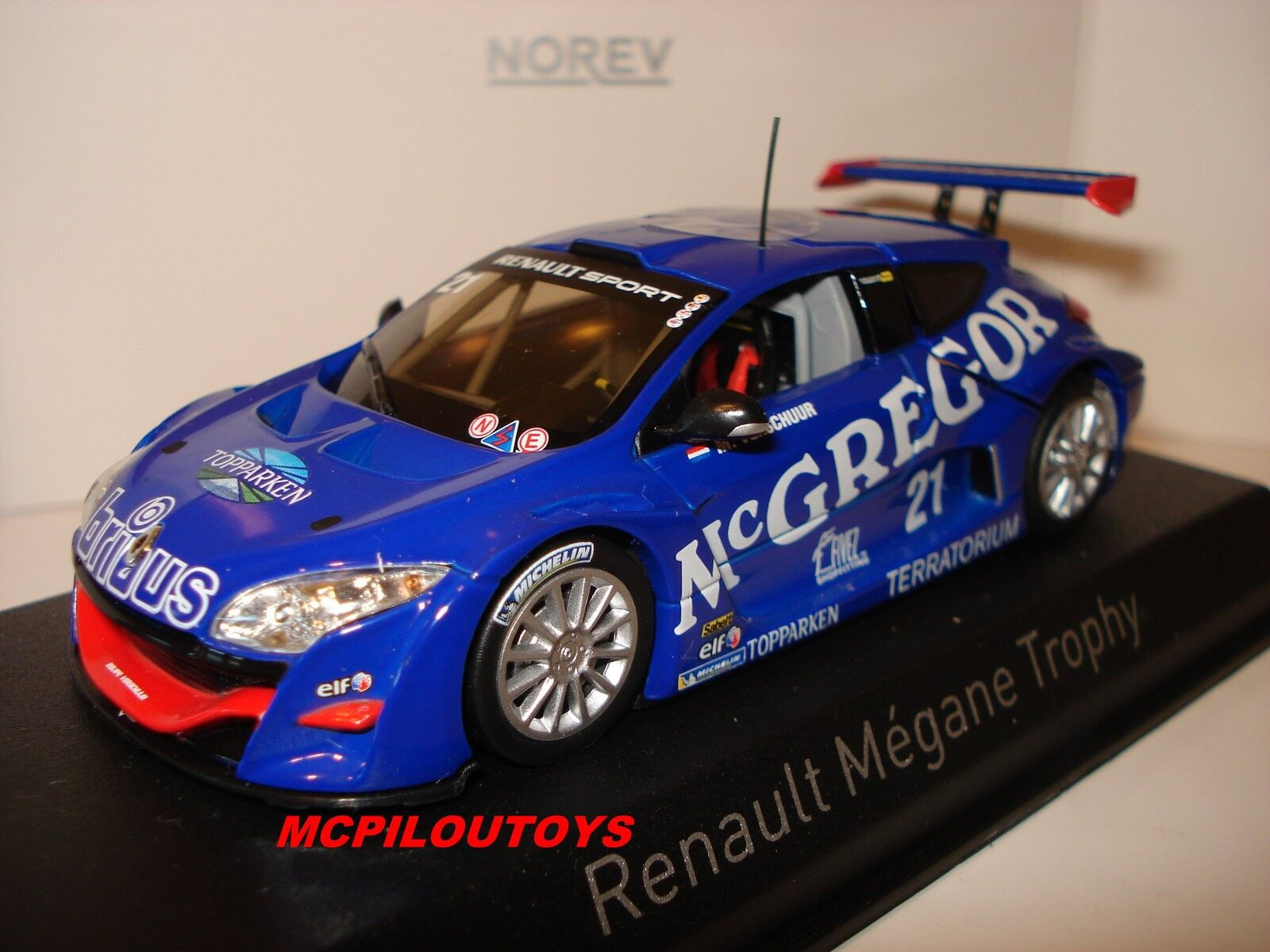 NOREV RENAULT MEGANE TROPHY No.21 VERSCHUUR WINNER WORLD SERIES 2009 au 1 43°