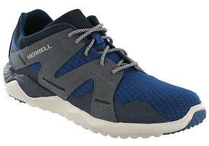 Merrell-1SIX8-en-cuir-amp-maille-Leger-Respirant-Bleu-Sports-Baskets-Pour-Homme