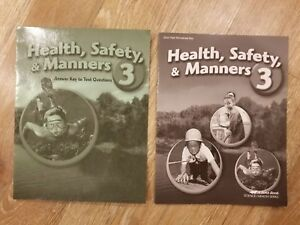 Details about ABeka Health Safety & Manners 3 Text Answer Key & Quiz Test  Worksheet Key